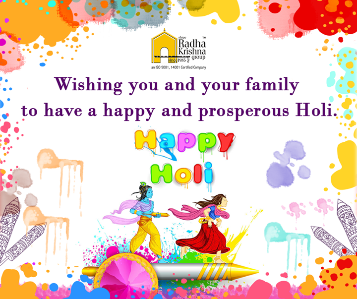May God gift you all the colors of life, colors of joy, colors of happiness, colors of friendship, colors of love and all other colors you want to paint in your life. #HappyHoli