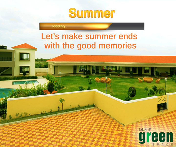 End of your summer at the right place with  peace and relax. #JaldeepGreenSpace  #Summer