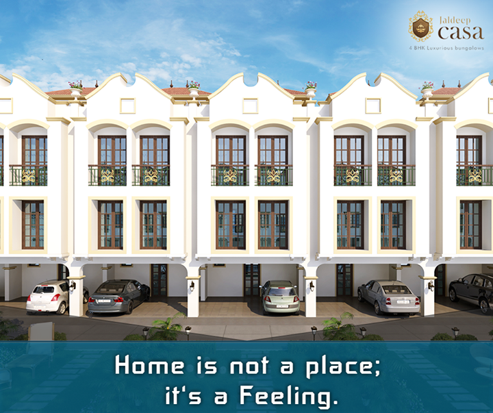It's not about how big your home but how happy your home is. #JaldeepCasa #Ahmedabad #ShreeRadhaKrishna