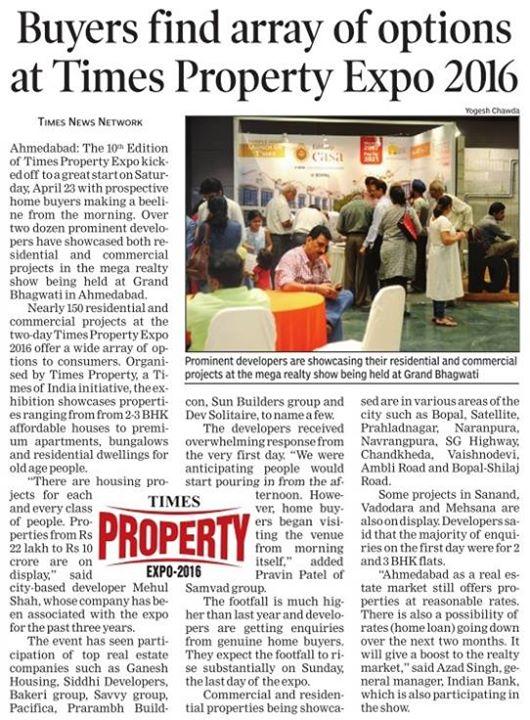 Array of option available by Jaldeep Casa, a project by Shree Radha Krishna Group at Times Property Expo 2016 #Ahmedabad #ShreeRadhaKrishnaGroup