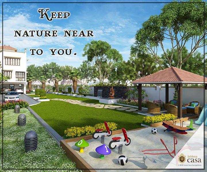 Nature is not a place to visit, it is home. Always be close to nature at Jaldeep Casa located at Bopal Ahmedabad. #ShreeRadhaKrishnaGroup #JaldeepCasa