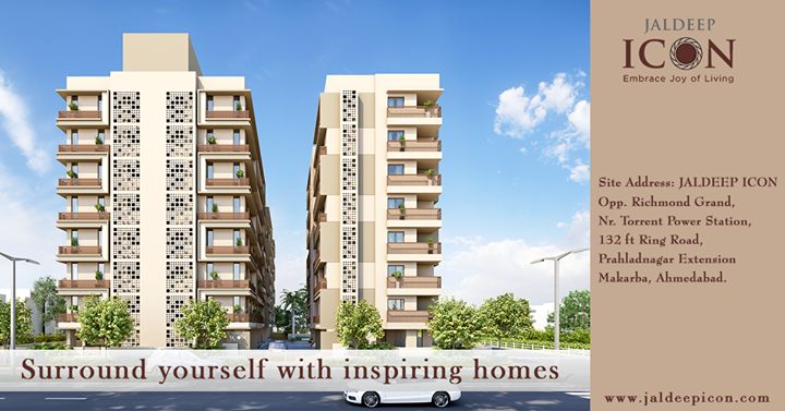 Happiness lies in decorating your new home. Book a house of dreams at JALDEEP ICON #ShreeRadhaKrishnaGroup #JaldeepIcon #Ahmedabad #LuxuryLiving