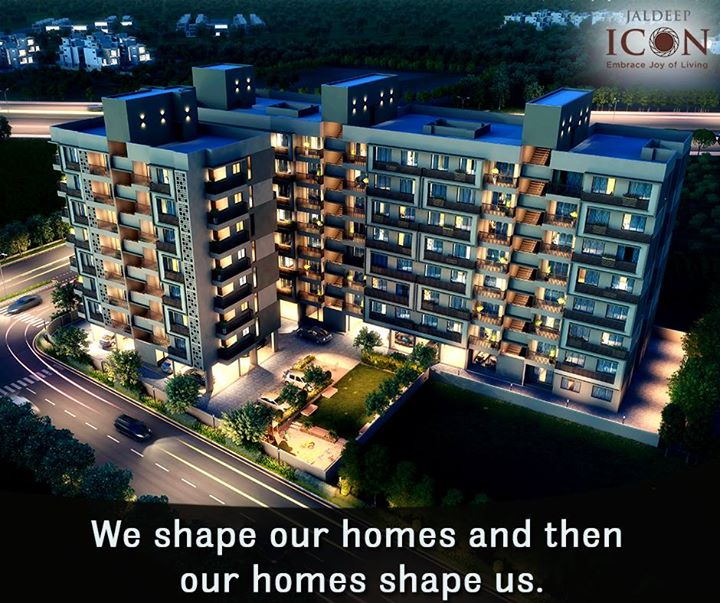 Its not how big the house is, its how happy the home is. #JaldeepIcon #ShreeRadhaKrishnaGroup #Ahmedabad