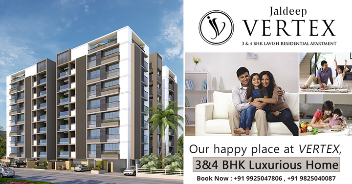Why rent when you can own a luxurious home at Jaldeep Vertex at Iscon-Ambli Road in #Ahmedabad #ShreeRadhaKrishnaGroup #JaldeepVertex #LavishApartment