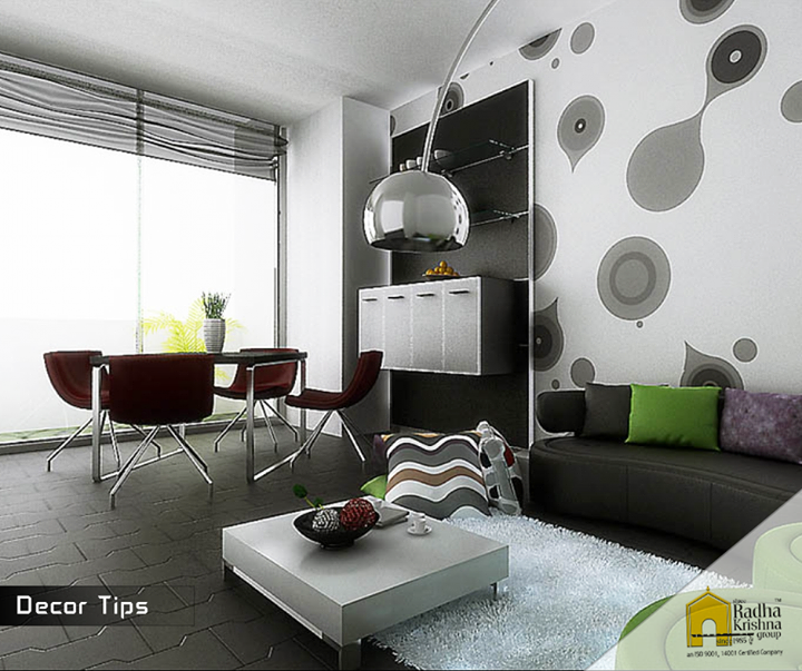 Paint or a colorful accents and a litter wallpaper could make such a big difference in your room. #DecorTips #ShreeRadhaKrishnaGroup #JaldeepVertex #JaldeepCasa #JaldeepIcon #JaldeepEntice #JalDhara319 #Ahmedabad #LuxuriousHome