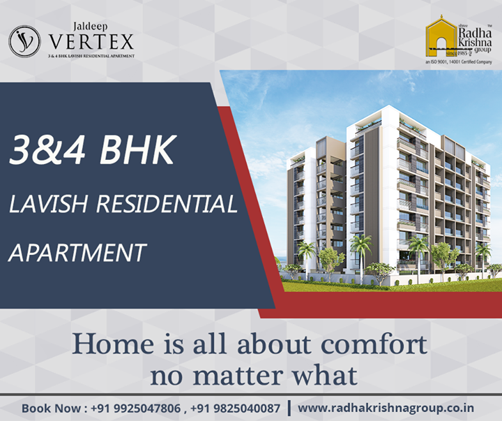 Experience the essence of luxury at #JaldeepVertex  #ShreeRadhaKrishnaGroup #Ahmedabad #Home