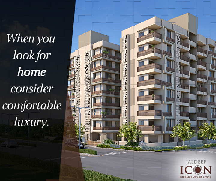 One of the best experience is to spend your time within the walls of your home. #ShreeRadhaKrishnaGroup #JaldeepIcon #Ahmedabad #Homes