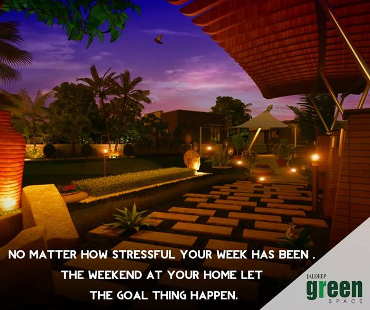 Choose #JaldeepGreenSpace and make your weekend even better because owning a home is a root of wealth. #ShreeRadhaKrishnaGroup #WeekEndHomes