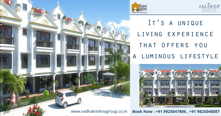 Homes in #JaldeepEntice allow retreat & relaxation that extend beyond the comfort of your home. #ShreeRadhaKrishnaGroup #Ahmedabad #LuxuriousHome