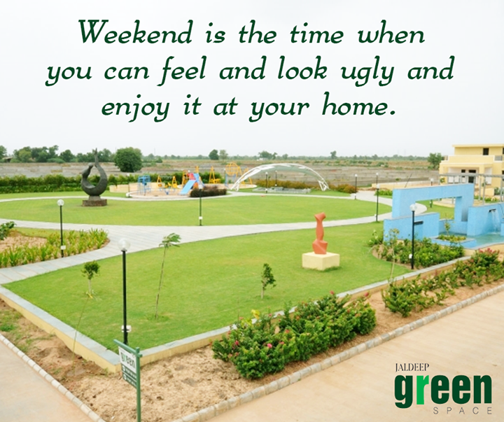 The best way to pay for lovely moments is to enjoy it. Enjoy your Weekend #ShreeRadhaKrishnaGroup #JaldeepGreenSpace #HappyWeekend
