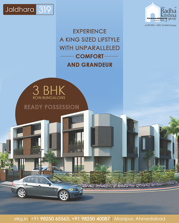 Jaldhara 319 is the destination of a desirable lifestyle. Come and experience more comfort, more luxury, more convenience and eventually, more happiness.  #Jaldhara319 #3BHKRowBungalows #ReadyPossession #LuxuryLiving #ShreeRadhaKrishnaGroup #Manipur #Ahmedabad