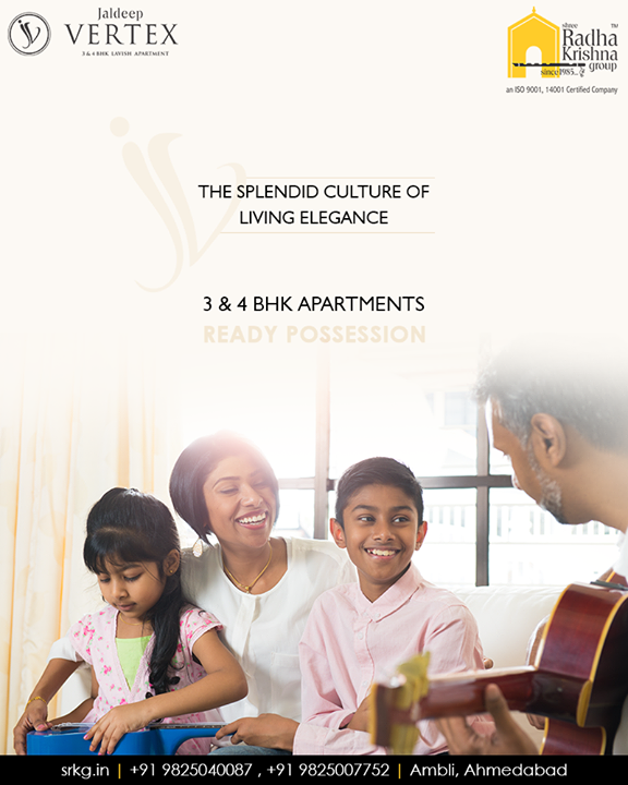 An assurance of a better world sketched up by your dreams, hopes and future plan; have all become the most needed part of every individual's life.  #JaldeepVertex #2and4BHKApartments #ReadyPossession #LuxuryLiving #ShreeRadhaKrishnaGroup #Ambli #Ahmedabad