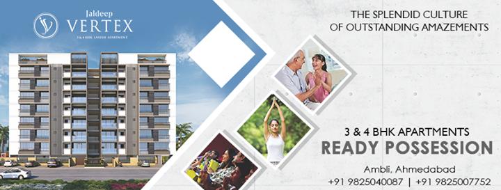 Radha Krishna Group,  JaldeepVertex, 2and4BHKApartments, ReadyPossession, LuxuryLiving, ShreeRadhaKrishnaGroup, Ambli, Ahmedabad