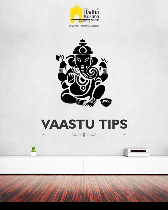 At the entrance if you have a naked wall, place a statue or a picture of Ganesha. Since a naked wall represents loneliness, it helps in breaking the negativity.  #LuxuryLiving #ShreeRadhaKrishnaGroup #Ambli #Ahmedabad #VastuTips