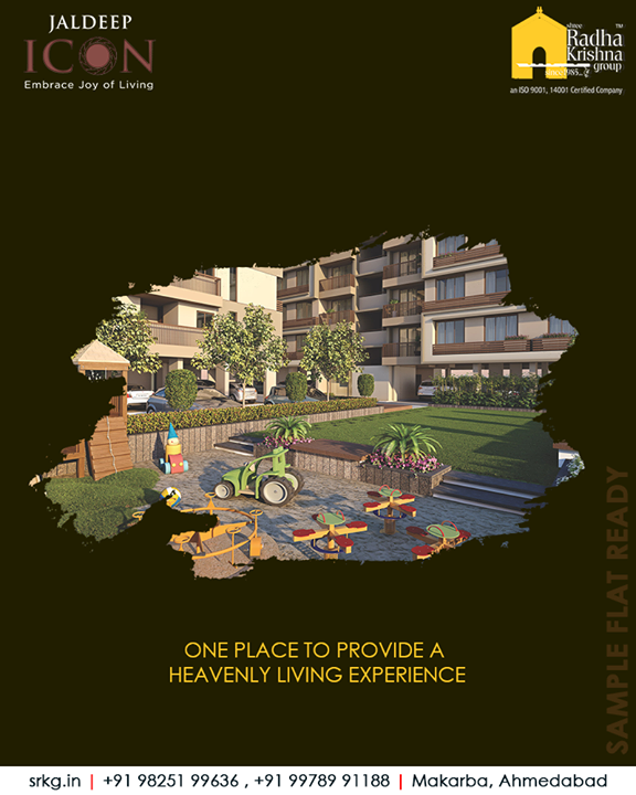 The amenities are enough to make you fall in love with this place!  #SampleFlatReady #2and3BHKApartments #LuxuryLiving #ShreeRadhaKrishnaGroup #Makarba #Ahmedabad