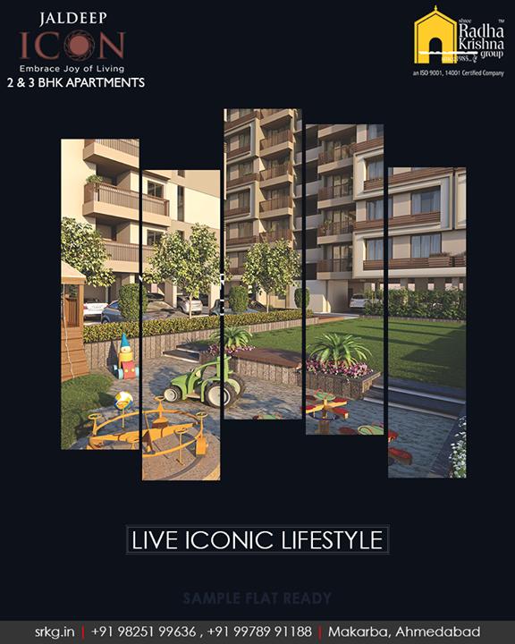#JaldeepIcon, thoughtfully designed homes for a supreme lifestyle  #SampleFlatReady #2and3BHKApartments #LuxuryLiving #ShreeRadhaKrishnaGroup #Makarba #Ahmedabad
