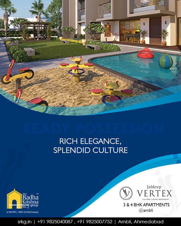 Lifestyle at #JaldeepVertex, #Ambli is indeed the splendid culture of living elegance  #ShreeRadhaKrishnaGroup #Ahmedabad #RealEstate #LuxuryLiving