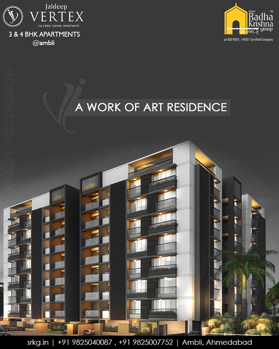 Bestowed with the modern amenities and contemporary facilities #JaldeepVertex by Shree Radha Krishna Group is truly a work of art residence that elevates your everyday life.  #WorkOfArtResidence #Ambli #ShreeRadhaKrishnaGroup #Ahmedabad #RealEstate #LuxuryLiving