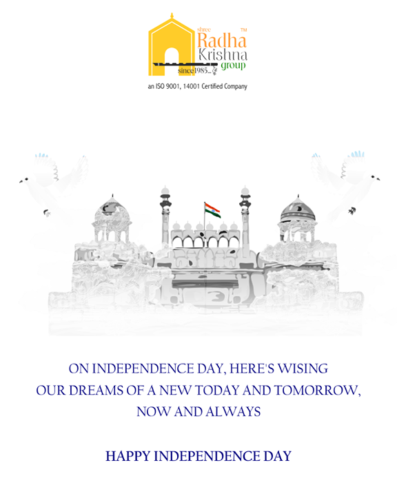 Wishing you the best, today & tomorrow!  #HappyIndependenceDay #IndependenceDay18 #IndependenceDay #IndependenceWeek #Celebration #15thAugust #Freedom #ShreeRadhaKrishnaGroup #Ahmedabad #RealEstate #LuxuryLiving