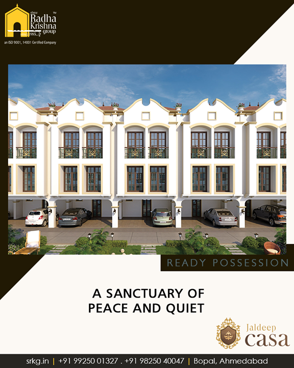 Book an home at #JaldeepCasa and experience the warmth, peace and comfort of #luxury dwelling.  #ShreeRadhaKrishnaGroup #Ahmedabad #RealEstate #LuxuryLiving