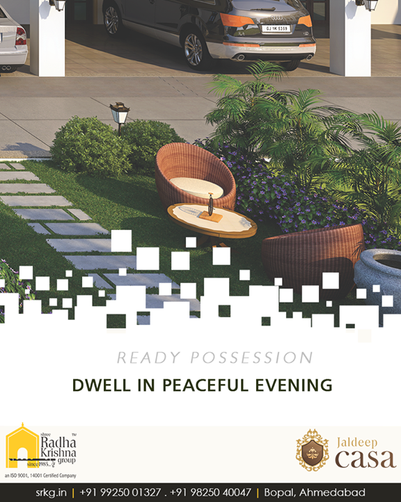 Sit in this wonderfully peaceful place of fullness for a moment or two.  #JaldeepCasa #ShreeRadhaKrishnaGroup #Ahmedabad #RealEstate #LuxuryLiving