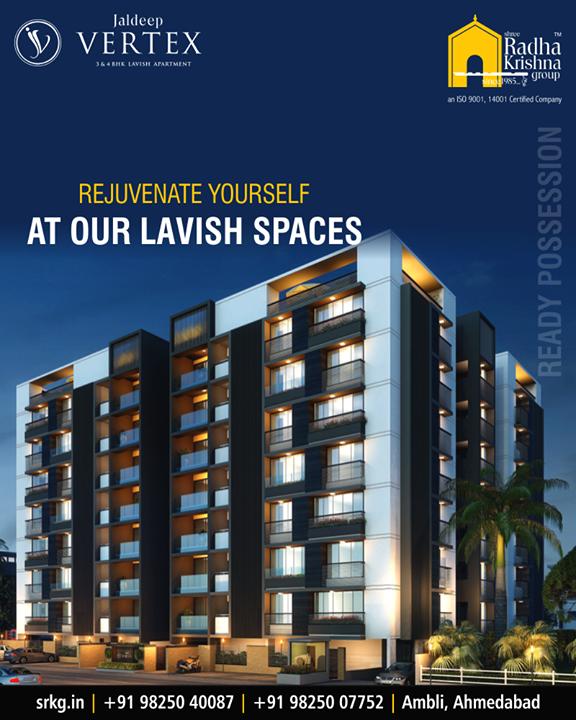 Level up your lifestyle game at #JaldeepVertex!  #Ambli #ShreeRadhaKrishnaGroup #Ahmedabad #RealEstate #LuxuryLiving