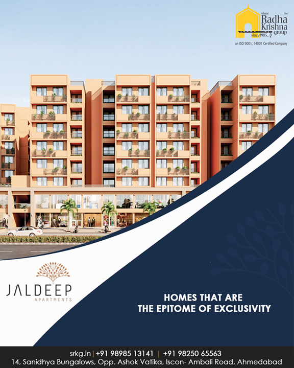 A new way of life, with refined living spaces that spells luxury.  #JaldeepApartments #Sanand #ShreeRadhaKrishnaGroup #Ahmedabad #RealEstate #LuxuryLiving
