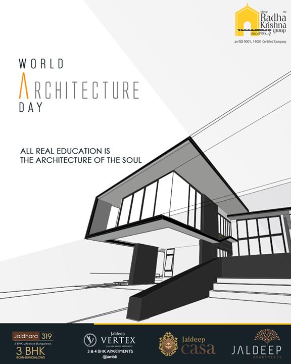 Radha Krishna Group,  WorldArchitectureDay, ArchitectureDay, ShreeRadhaKrishnaGroup, Ahmedabad, RealEstate, LuxuryLiving