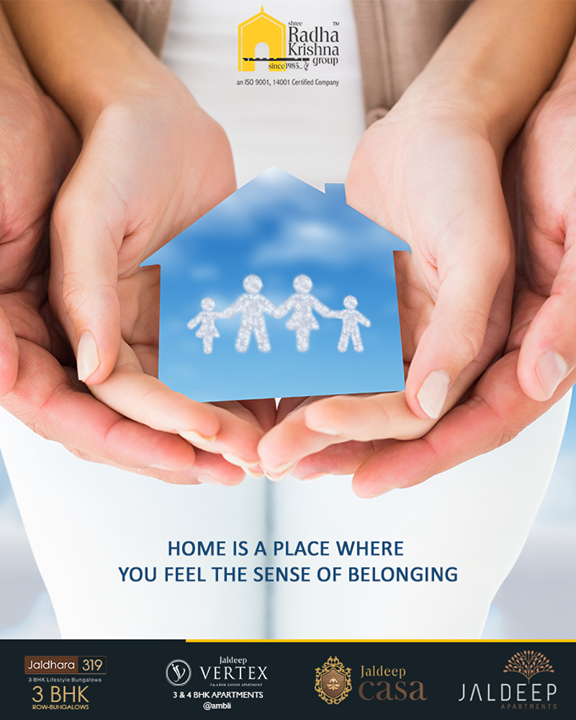 Home is a place where you feel the sense of belonging. Submerge yourself in the lap of luxury & lead a perfect lifestyle with Shree Radha Krishna Group.  #ThoughtofTheDay #YourHome #ShreeRadhaKrishnaGroup #Ahmedabad #RealEstate #JaldeepApartment #JaldeepVertext #JaldeepCasa #JaldeepIcon #Jaldeep319