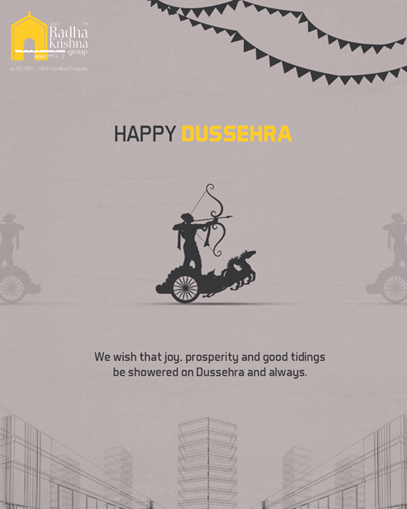 We wish that joy, prosperity and good tidings be showered on Dussehra and always.  #HappyDussehra #Dussehra2018 #Dussehra #IndianFestivals #Celebration  #ShreeRadhaKrishnaGroup #Ahmedabad #RealEstate #LuxuryLiving