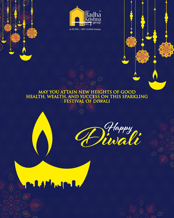 May you attain new heights of good health, wealth, and success on this sparkling festival of Diwali.   #HappyDiwali #IndianFestivals #Celebration #Diwali #Diwali2018 #FestivalOfLight #DiwaliIsHere #FestivalOfJoy #ShreeRadhaKrishnaGroup #Abodes #CapaciousSpaces #LuxuriousHomes #Gujarat #India