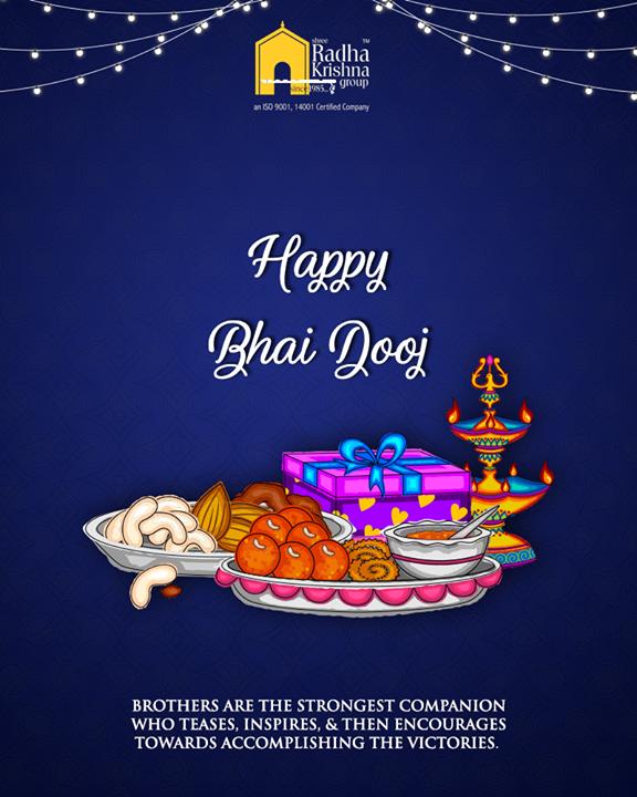 To the best childhood companions, happy Bhai Dooj!  #BhaiDooj #Diwali2018 #Celebration #FestiveSeason #IndianFestivals #BrotherSister #HappyBhaiDooj #ShreeRadhaKrishnaGroup #LuxuriousHomes #Gujarat #India