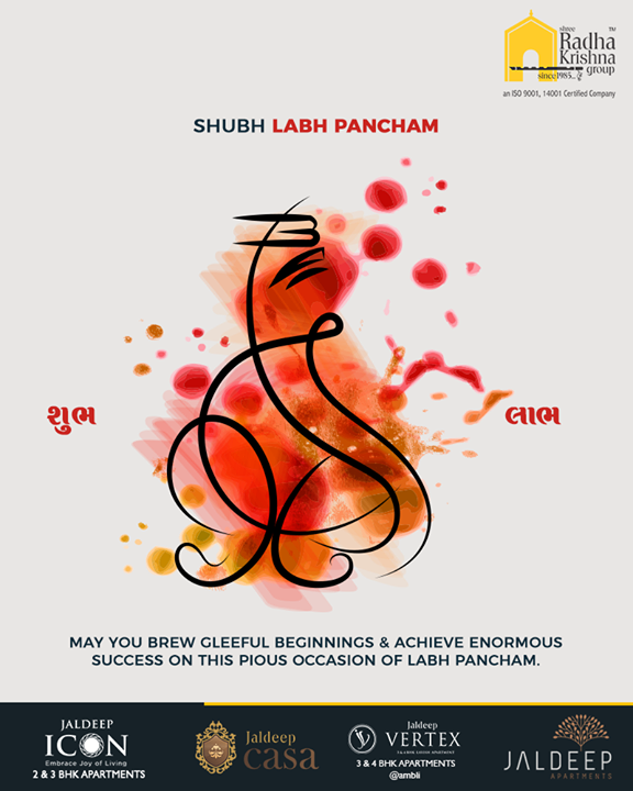May you brew gleeful beginnings & achieve enormous success!  #HappyLabhPancham #ShubhLabhPancham #LabhPancham #Celebration #FestiveSeason #IndianFestivals #FestiveSeason #ShreeRadhaKrishnaGroup #LuxuriousHomes #Gujarat #India