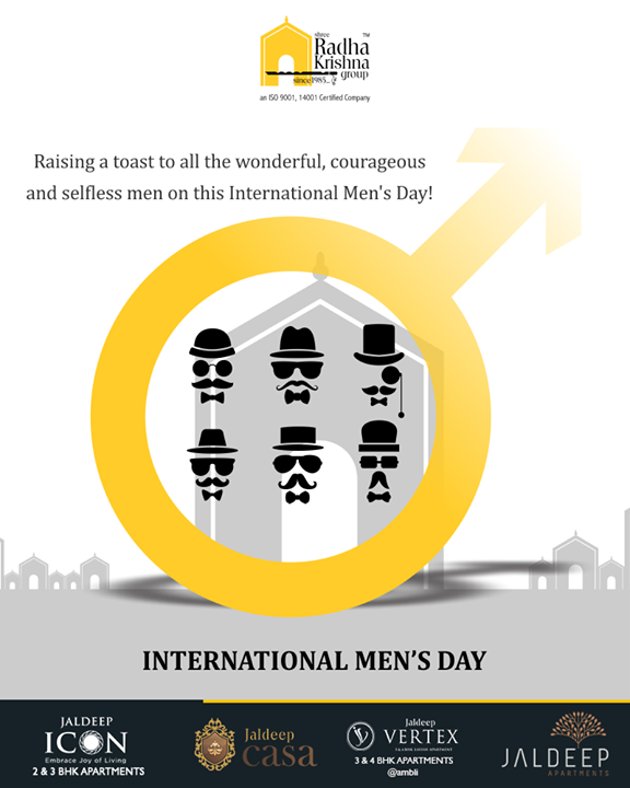Raising a toast to all the wonderful, courageous and selfless men on this International Men's Day!   #InternationalMensDay #MensDay #MensDay2018  #ShreeRadhaKrishnaGroup #Ahmedabad #RealEstate #LuxuryLiving