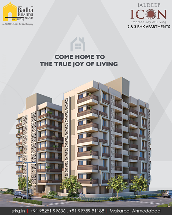 Located amidst the serenity of city-life and closer to the proximity of the modern lifestyle amenities, the abodes at #JaldeepIcon will speak for themselves. Come home to the true joy of living!  #SampleFlatReady #2and3BHKApartments #Amenities #LuxuryLiving #ShreeRadhaKrishnaGroup #Makarba #Ahmedabad