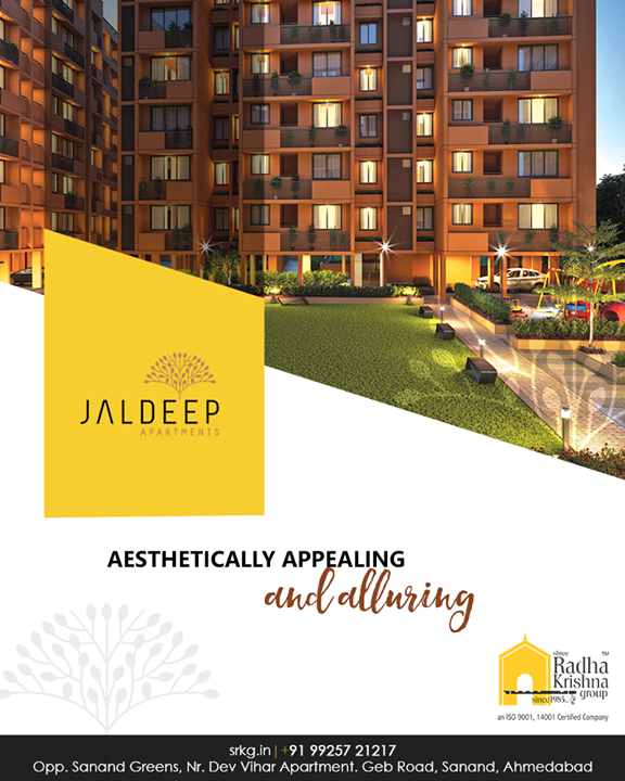 A luxurious lifestyle awaits you at the aesthetically appealing and alluring #JaldeepApartment.  #AestheticallyAppealingNAlluring #ReconnectWithHappiness #JaldeepApartments #Sanand #ShreeRadhaKrishnaGroup #Ahmedabad #RealEstate #LuxuryLiving