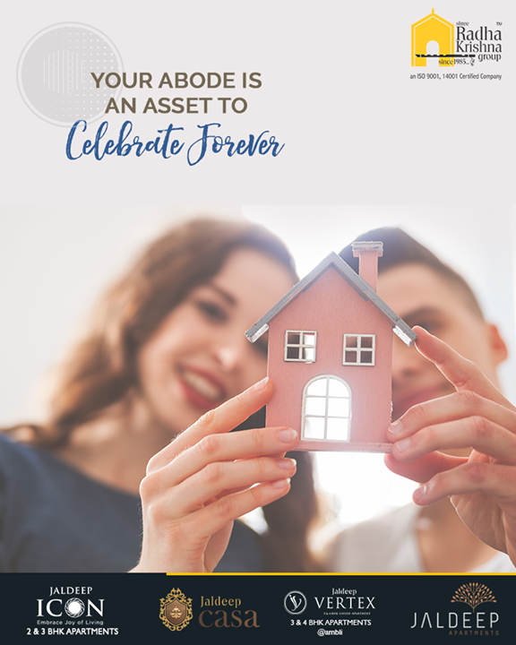 Your abode is an asset to celebrate forever!  Take a wise decision by making a good investment in the real estate segment that may give good-on-return value with Shree Radha Krishna Group.  #AnAssetToCelebrate #RealEstate #NewYearResolution #GoodInvestment #YourHome #ShreeRadhaKrishnaGroup #Ahmedabad #RealEstate #JaldeepApartment #JaldeepVertext #JaldeepCasa #JaldeepIcon