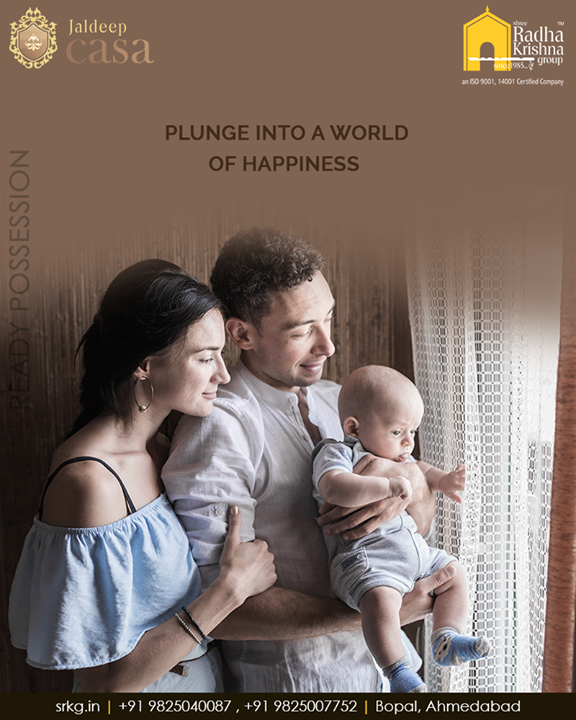 Plunge into a world of happiness and let your every-day life be as good as a joy ride at #JaldeepCasa.  #WorldOfHappiness #WorkOfArtResidence #Bopal #ShreeRadhaKrishnaGroup #Ahmedabad #RealEstate #LuxuryLiving
