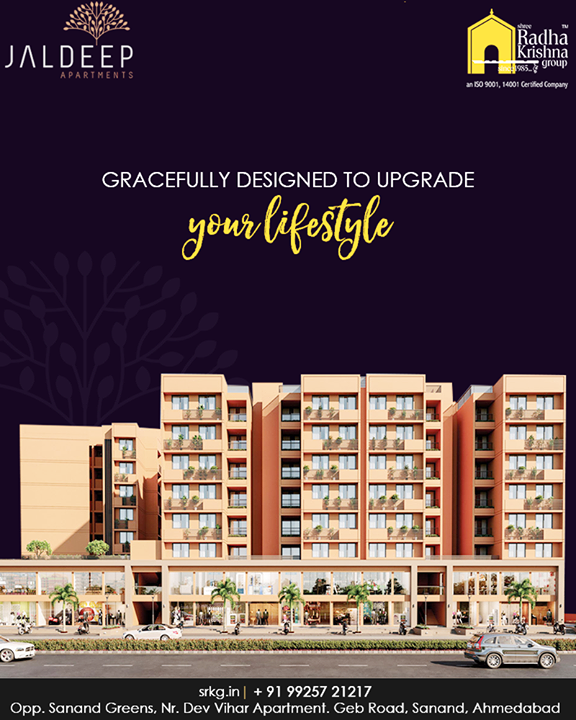 In this New Year discover a new way of living! The apartments at #JaldeepAapartment are gracefully designed to upgrade the lifestyle of the modern dwellers.  #NewYearNewLifestyle #AnAssetToCelebrate #NewYearResolution #GoodInvestment #AestheticallyAppealingNAlluring #JaldeepApartments #Sanand #ShreeRadhaKrishnaGroup #Ahmedabad #RealEstate #LuxuryLiving
