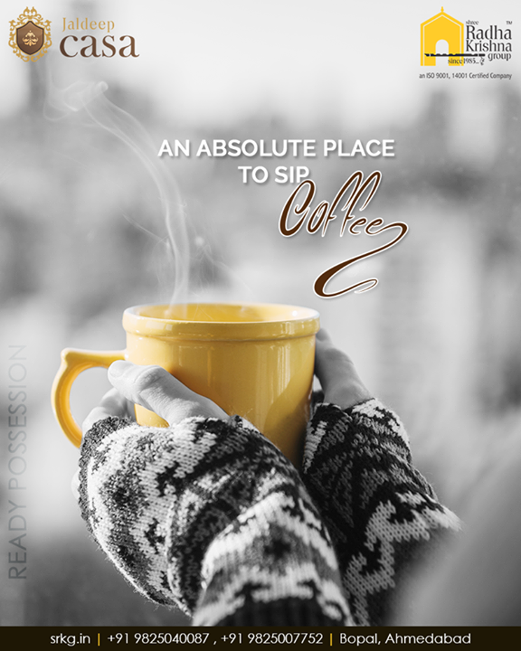 This is the ideal & perfect place to sip coffee with your partner!   #JaldeepCasa #GoodInvestment #YourHome #ShreeRadhaKrishnaGroup #Ahmedabad #RealEstate