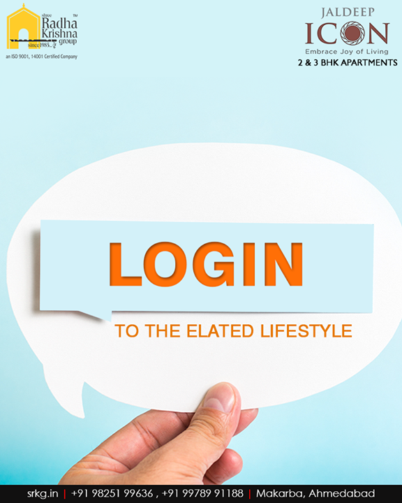 Login to the elated lifestyle, where you can have all the conveniences, amenities and amenities by your side at #JaldeepIcon.  #SampleFlatReady #2and3BHKApartments #Amenities #LuxuryLiving #ShreeRadhaKrishnaGroup #Makarba #Ahmedabad