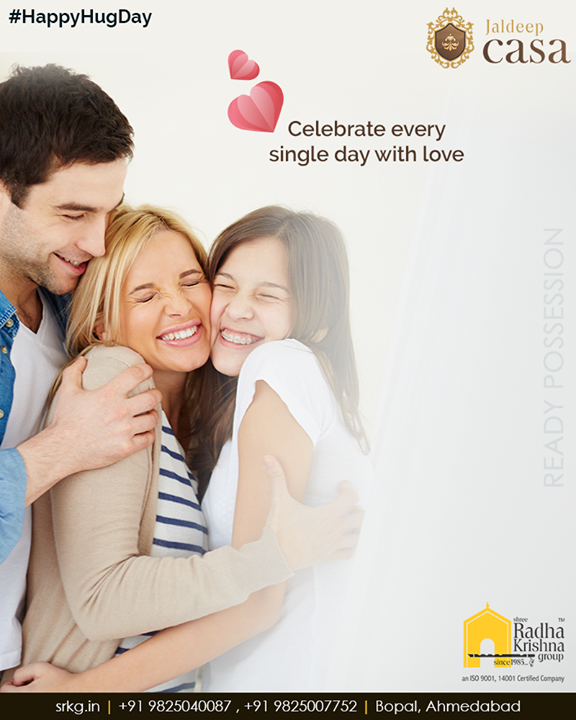 Embrace the good life and cuddle with your beloved ones! Celebrate every single day with love at #JaldeepCasa.  #CelebrateLife365Days #WorldOfHappiness #AnAssetToCelebrate #WorkOfArtResidence #Bopal #ShreeRadhaKrishnaGroup #Ahmedabad #RealEstate #LuxuryLiving