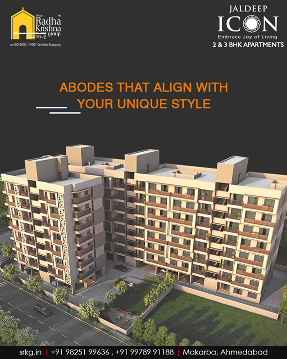 Looking to find an abode that aligns with your unique style? The apartments at #JaldeepIcon are crafted and designed with you in mind!  #SampleFlatReady #2and3BHKApartments #Amenities #LuxuryLiving #ShreeRadhaKrishnaGroup #Makarba #Ahmedabad
