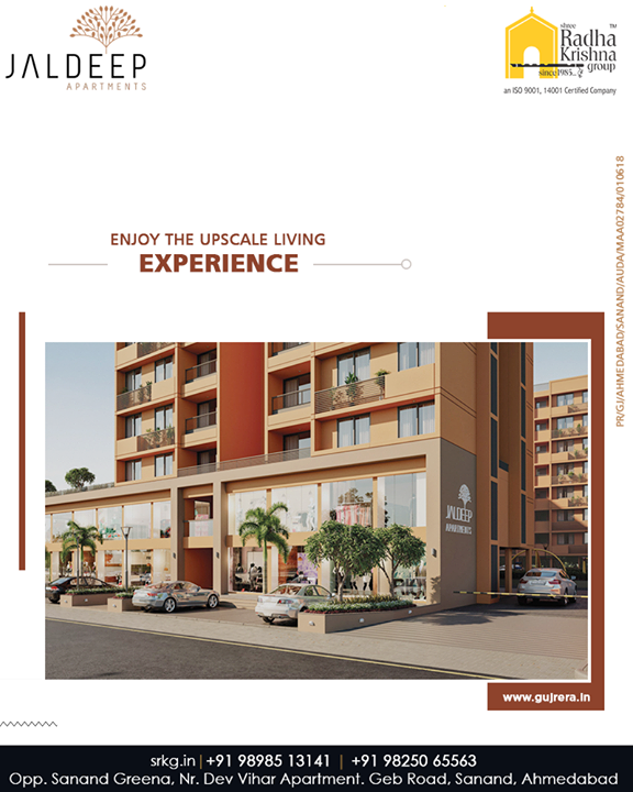 Whoever believed that luxury and affordability cannot accord must take a look at the residential project #JaldeepApartment.  #WorkOfArtResidence #Bopal #ShreeRadhaKrishnaGroup #Ahmedabad #RealEstate