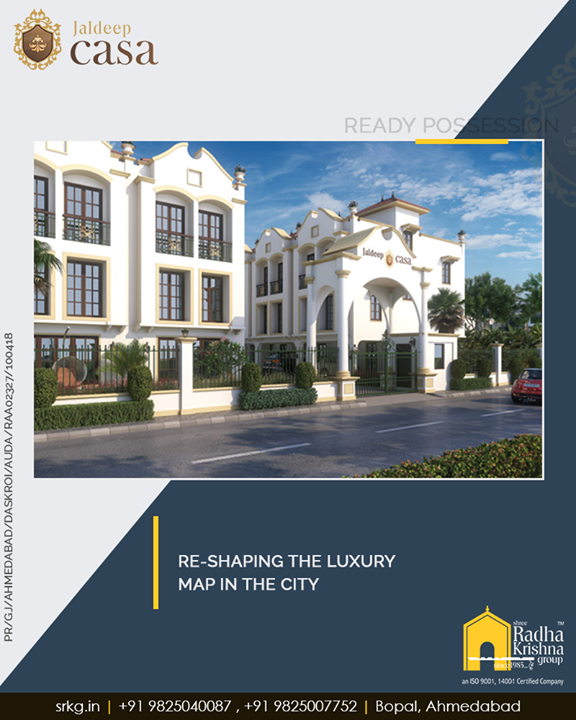Re-shaping the luxury map in the city, #JaldeepCasa envisions offering every comfort and convenience to its happy dwellers.   #WorldOfHappiness #Bopal #Amenities #LuxuryLiving #ShreeRadhaKrishnaGroup #Ahmedabad #RealEstate