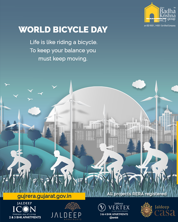 Radha Krishna Group,  WorldBicycleDay, ShreeRadhaKrishnaGroup, SRKG, Ahmedabad, RealEstate