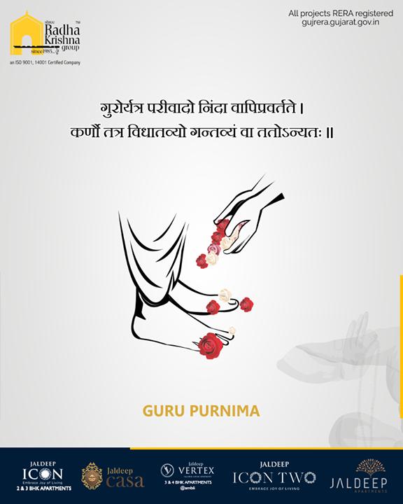 The miraculous presence of the Guru has the power to shape our destiny.   #GuruPurnima #GuruPurnima2019 #गुरुपुर्णिमा #IndianFestival #SRKG #ShreeRadhaKrishnaGroup #Ahmedabad #RealEstate