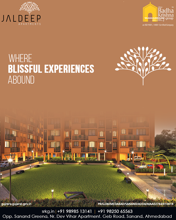 Boasting of stunning views and impeccable designs #JaldeepApartment is more than an opulent address where blissful experiences abound.  #IconicLiving #LuxuryLiving #ShreeRadhaKrishnaGroup #Ahmedabad #RealEstate #SRKG #IconicApartments