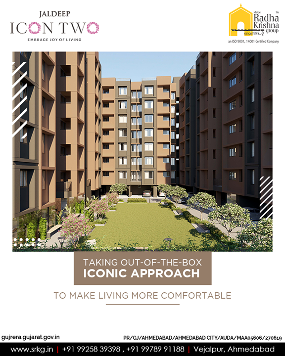 We take an out-of-the-box iconic approach to make living more comfortable, productive & joyous for the urban dwellers. Reside with a perspective with Shree Radha Krishna Group.  #JaldeepIcon2 #ShreeRadhaKrishnaGroup #Ahmedabad #RealEstate #SRKG