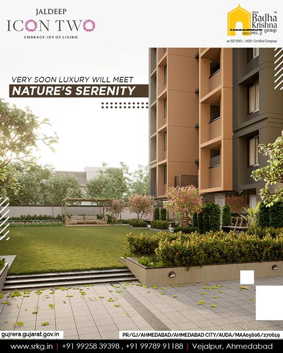 Prepare to experience the superior lifestyle because very soon luxury will meet nature's serenity at the upcoming residential project; #JaldeepIcon2.  #Icon2 #ShreeRadhaKrishnaGroup #Ahmedabad #RealEstate #SRKG